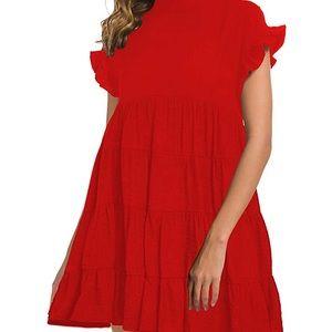 Summer ruffle babydoll dress